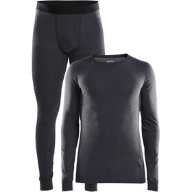 Craft Merino 180 Baselayer Set Herren black melange